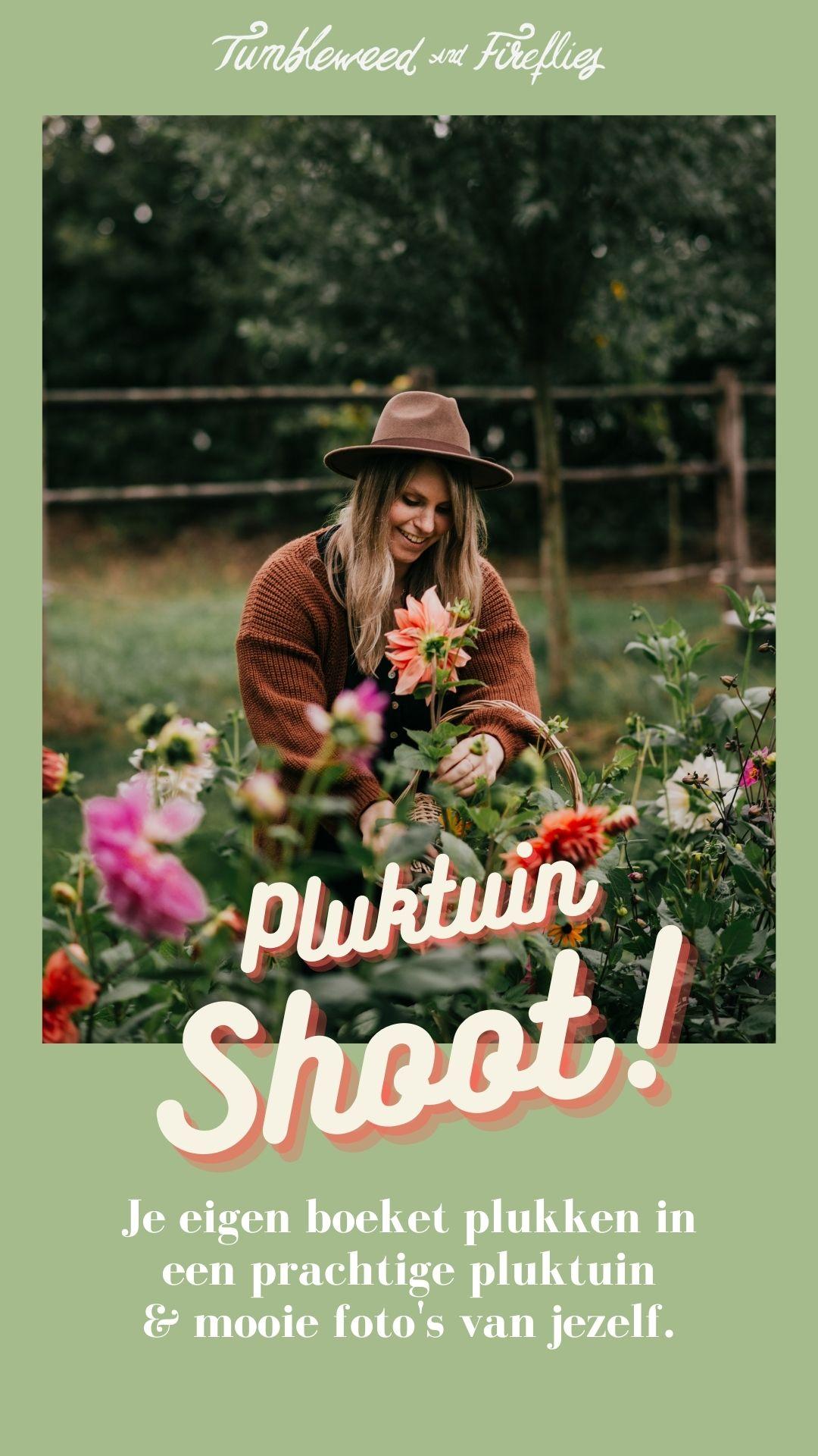 Fotoshoot in onze Pluktuin!